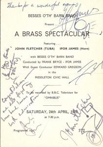1976 Tuba Concerto Programme