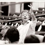 conducting in BBC Studio 7 Manchester c 1985